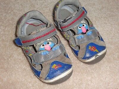 Stride Ride Shoes Size 6.5 M Elmo Sandals Blue Leather Baby Boy ()