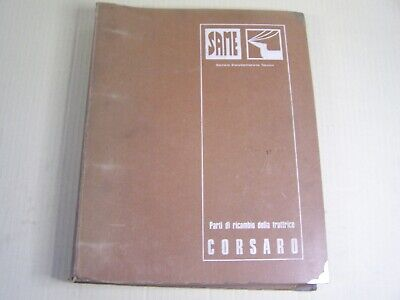 Same Corsaro Tractor Dealer Parts Catalog Manual Book