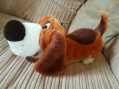 Disney store rare vintage toby soft plush toy dog basil great mouse detective