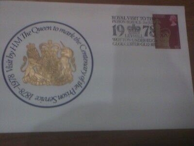 1978 Royal Visit to the Prison Service Centenary Cover