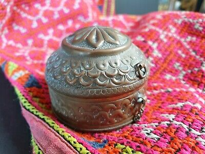 Old Asian Brass Vanity Box (b) …beautiful collection and accent piece