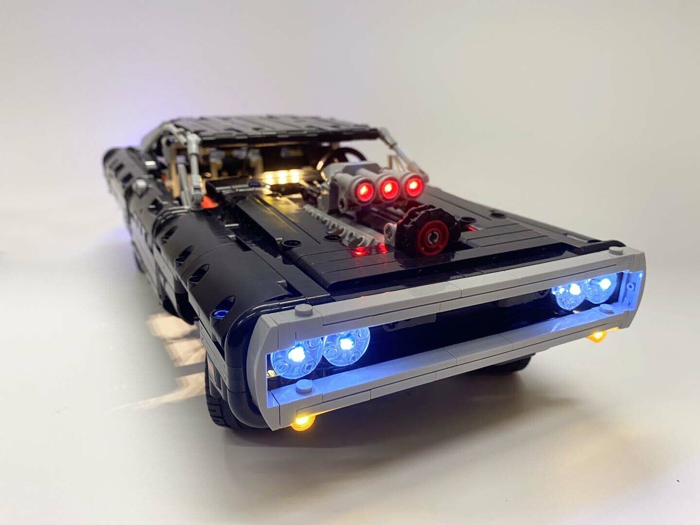 Upgrade LED Light Kit ONLY For LEGO 42111 Technic Doms For Dodge Charger  ⋆