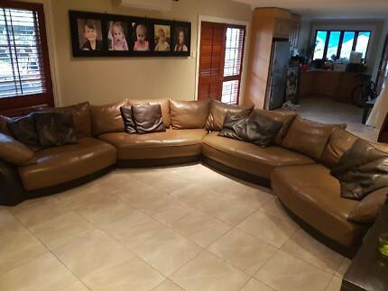 Leather Lounge Custom Made