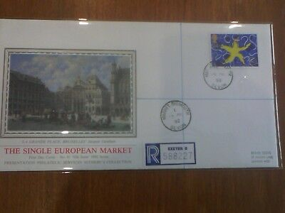 1992 Single European Market silk issue . First day Cover