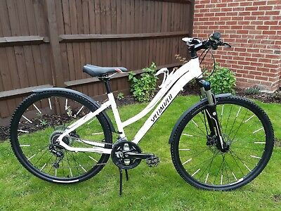 Specialized Ariel Competition Disc Ladies Hybrid Bike In White