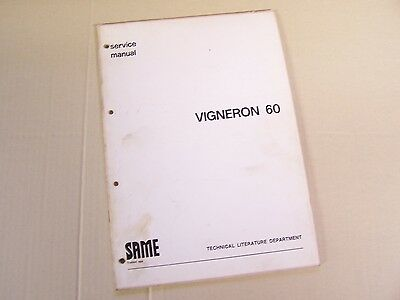 Same Vigneron 60 Tractor Service Repair Manual In English S.a.m.e.