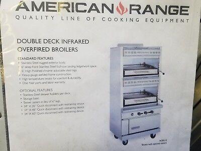 American Range Agbu-2 Double Deck Infrared Gas Broiler