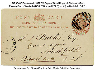 0402: Basutoland, 1887 QV Cape of Good Hope 1d Stationary Card - Proving Card