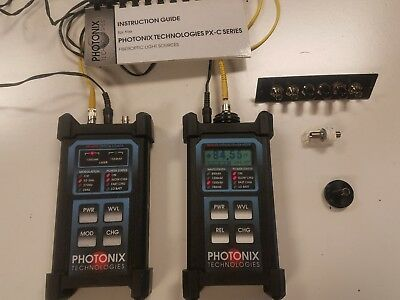 Photonix Technologies Px-b200 Optical Power Meter Px-c 205 Series Laser Source