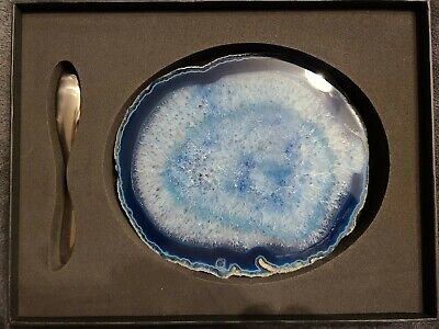 Anna By Rablabs Ita And Forma Cheese Plate Spreader Set Azure/Silver