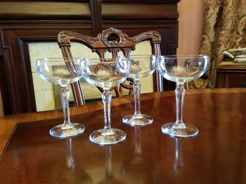 4 tall simple elegant coupes 618H 9 oz Multi-sided stems