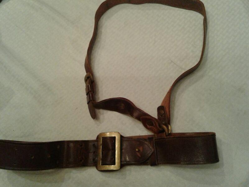 Sam brown belt ww2 original Size 36 Can Go A Little Larger Or Smaller