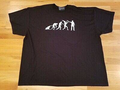 Zombie Punch (Shirt punch evolution of zombie killing tshirt black size 4XL the walking dead)