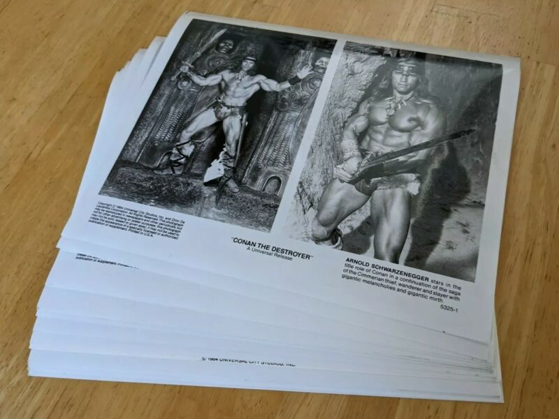 RaRe CONAN the DESTROYER 1984 PRESS KIT PHOTOS Schwarzenegger barbarian