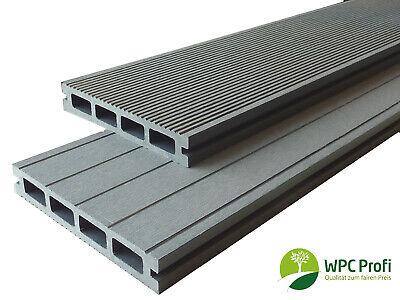 WPC Terrassendielen Handmuster Muster 25 mm x 15 cm steingrau Premium Qualität (15 Stein)