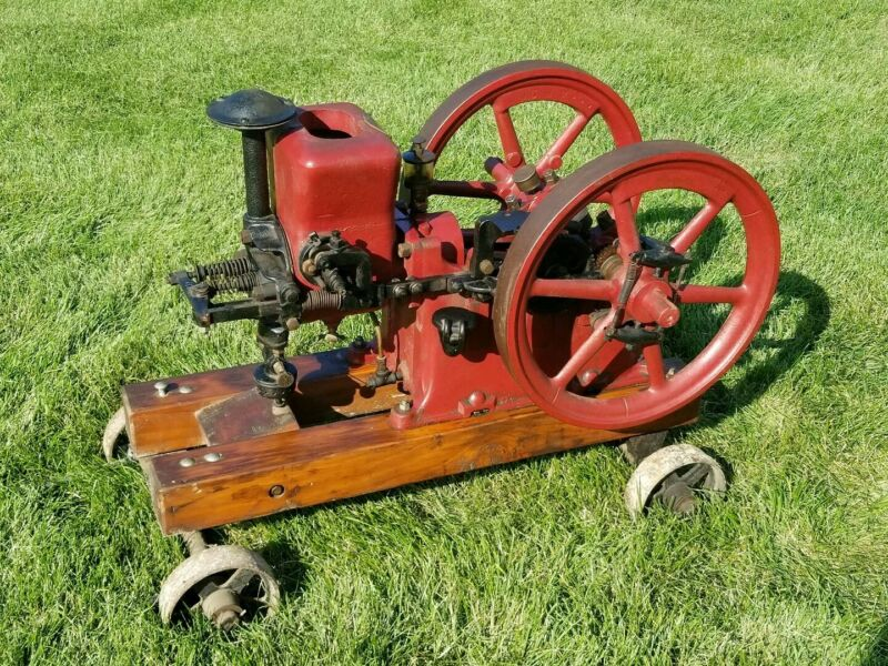 Antique Hit & Miss Engine Associated 2 Hp On Trucks