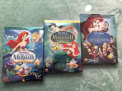 The Little Mermaid 1, 2, 3 Trilogy Bundle Set Free Shipping NEW