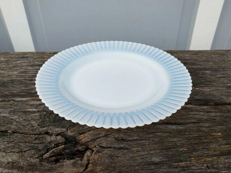 "Vintage Macbeth Evans Opaque Monax Petalware Dinner Plate 9.25"""
