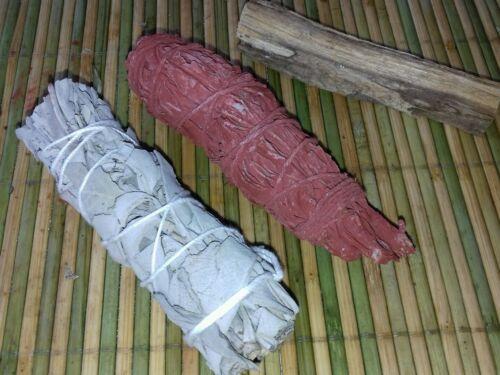 2 bâtons de sauge blanche et sauge sang de dragon+ 1bâton de palo santo offert