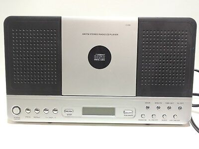 Bedside Alarm Clock with Radio / Aux / CD Player