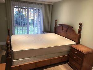 Queen bedroom set (solid wood) for sale