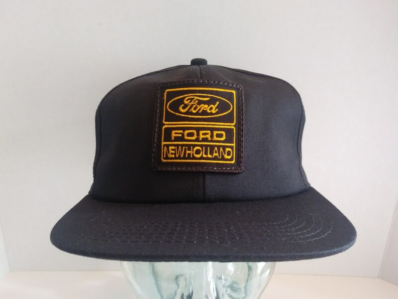 VTG Ford New Holland Hat Logo Patch Snapback Cap K-Products USA Farm Tractor NOS