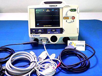 Lifepak 20 3 Leads Spo2 Battery Fully Re-certified