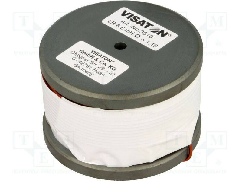 Visaton (3610) 36mm x 56mm Dia. 6.8mH 0.43Ω Audio Lr Ferrite Coil Power Inductor