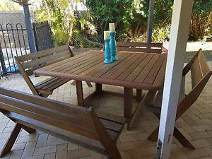8 seater timber outdoor table Heritage Park Logan Area Preview