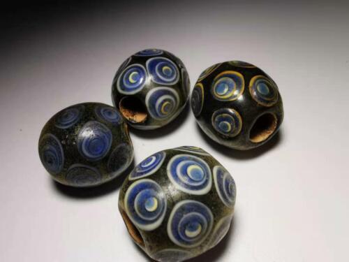 Chinese Translucent Glass beads azure stone colored glaze pendant beads 012#