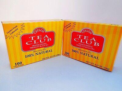 Pekoe Black Tea - Ceylon Tea Club Orange Pekoe & Pekoe Cut Black 100% Natural (200 )Tea Bags