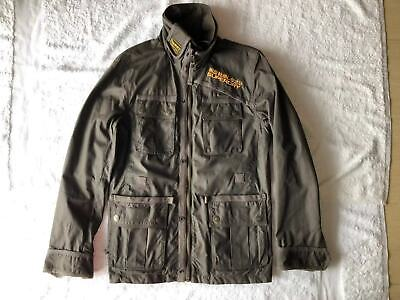 Superdry British Design Motorcycles 500 Ton Up Brown Waxed 85% New & Pre-Owned
