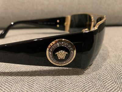 VERSACE AUTHENTIC VE2163 Gold Polarized Grey 63 mm Men's Sunglasses