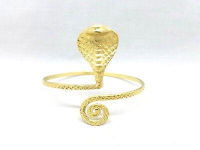 Cobra Snake Upper Arm Armlet Wrap Bracelet Cuff Armband Bangle Gold Egyptian New