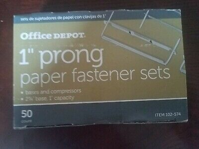 1 Prong Paper Fastener Sets 50 Count Office Depot