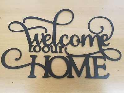 Art Welcome Sign - Welcome to Our Home metal wall art plasma cut sign gift idea