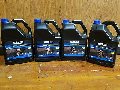 Yamalube Genuine Oil 1 Gallon 2M Two Stroke outboard motor TC-W3  ( x4 )
