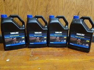 Yamalube Genuine Oil 1 Gallon 2M Two Stroke outboard motor TC-W3  ( x4 )