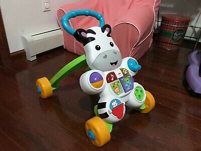 Fisher Price Learn With Me Zebra Activity Stand Smart Toy Child Walker (Pre-own)