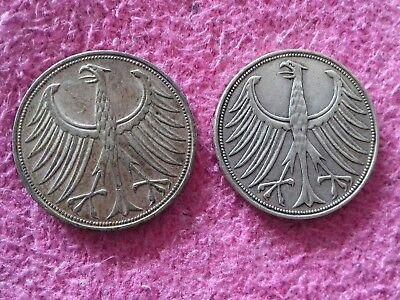 BRD - 5 Deutsche Mark -  - Silber - Silberadler