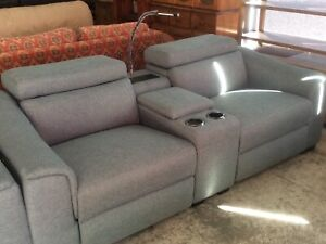 Electric Recliner Sofa with LED Pencil Light and USB console. Wangara Wanneroo Area Preview