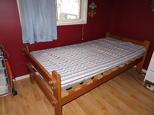 Timber bed and mattress Revesby Bankstown Area Preview