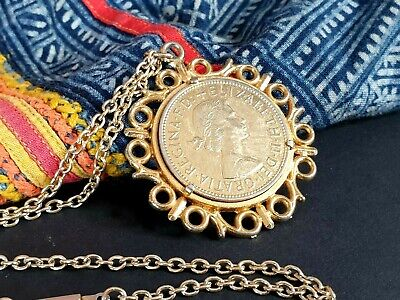 Vintage Coin Pendent Necklace on Chain …beautiful accent piece for the collectio
