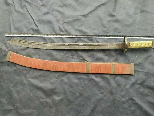 """Collectable Chinese """"Qing Dao"""" Seven Stars Sword Folded Steel Old blade Sharp"""