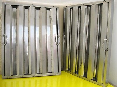 Box Of 6 Restaurant Hood Filters 25h X 20w Stainless Steel Grease Baffle