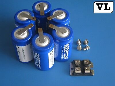 Lot 6 Boostcap 350f 2.5v 2.7v Ultracapacitor Maxwell Bcap0350e250 Spot Weld Tab