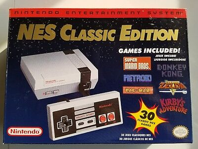 Nintendo Mini NES Classic Print run Console HDMI 30 Games ORIGINAL , Shipped Quick