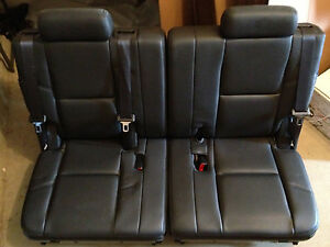 07 13 cadillac escalade chevy tahoe gmc yukon denali 3rd row seats black leather ebay. Black Bedroom Furniture Sets. Home Design Ideas