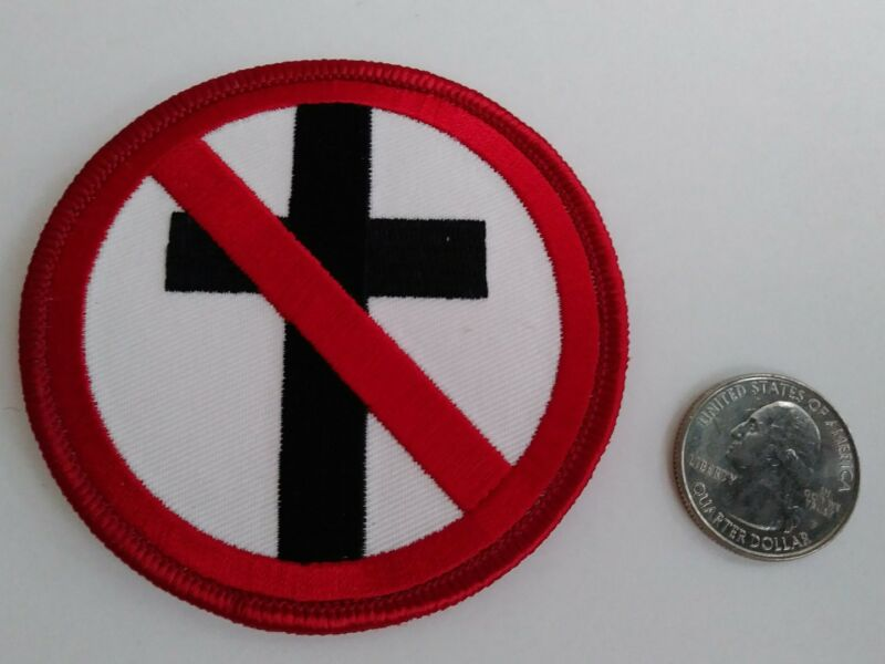 Bad Religion Circle No Cross Logo Iron On Patch (Punk Rock, Music) - New - Rare