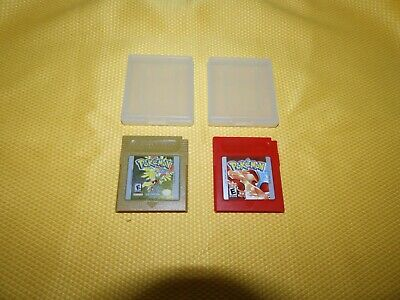 AUTHENTIC Pokemon: GOLD Version & RED Version **READ DESCRIPTION**